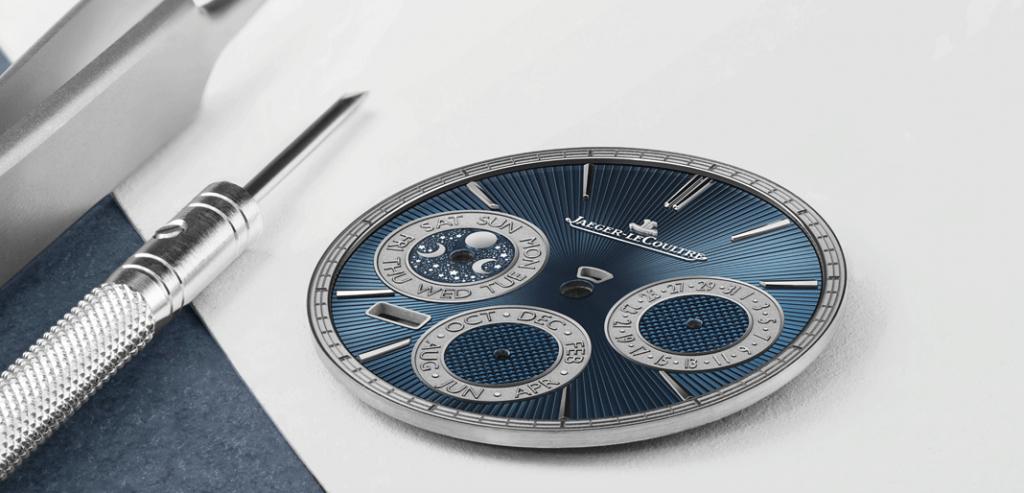 O mostrador azul do Jaeger-LeCoultre Master Grande Tradition Répétition Minutes Perpétuelle. | © Jaeger-LeCoultre