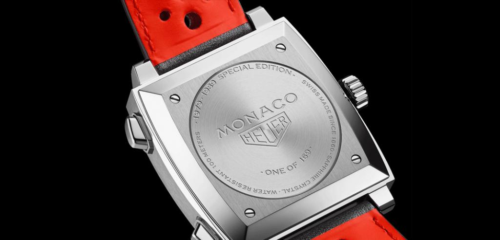 Fundo da caixa do Monaco '1979-1989 Limited Edition'. © TAG Heuer