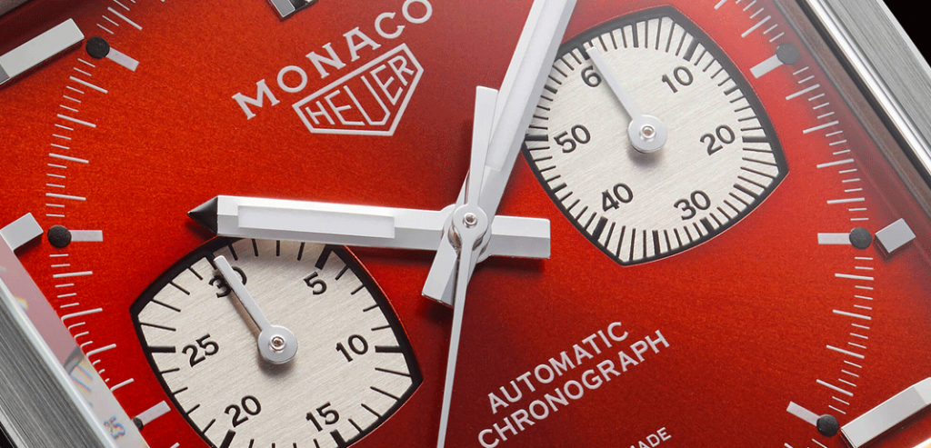 Close-up do Monaco '1979-1989 Limited Edition'. © TAG Heuer