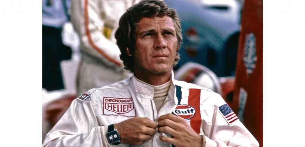 Steve McQueen e o Monaco no filme 'Le Mans', de 1971 © TAG Heuer