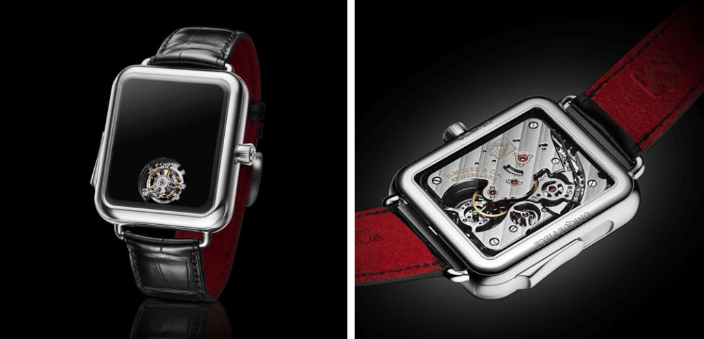 O Swiss Alp Watch Concept Black da H. Moser & Cie é um relógio de pulso  que dá as horas sem nunca as indicar em lado nenhum, terá de as ouvir através da repetição de minutos. | © H. Moser & Cie