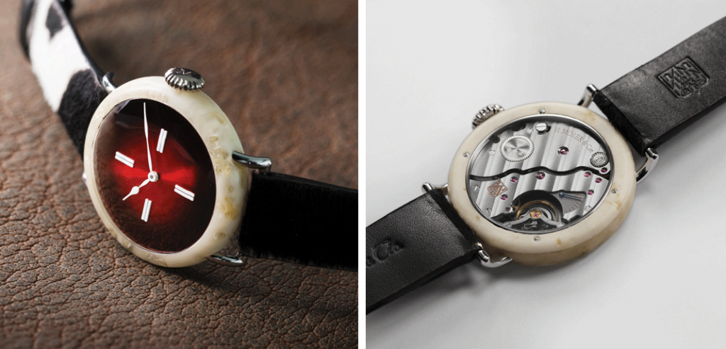 Peça única: o Cheese Made Watch é um relógio 100% suíço, com uma caixa feita de queijo. | © H. Moser & Cie