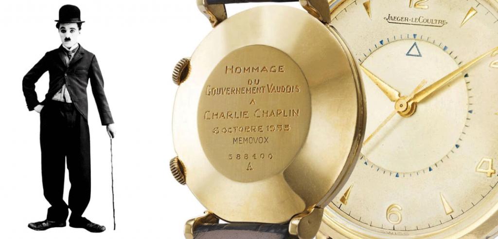 No ano de 1953, quando Charles Chaplin se mudou para a Suíça, a Jaeger-LeCoultre ofereceu-lhe um Memovox que está agora exposto no museu Chaplin's World, na Suíça. © DR